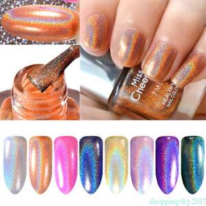 Image Is Loading Rainbow Shinning Mirror Effect Metallic Varnish Holographic Chrome