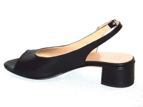Comoda 40 Sandali 756 Nero N Pelle Moda Donna Tacchi Elegante Trendy Bassi qpqwICP