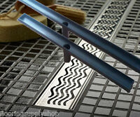 Quartz Plus By Aco Linear Shower Drain Waves Style