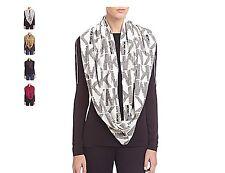 Michael Kors Women's Jumbo Logo Infinity Scarf White/black