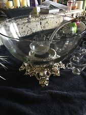 Vintage Punch Bowl Pitman-Dreitzer with Cups and Ladle