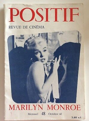 Marilyn Monroe 1962 French Magazine Positif No 48 Very Rare October after death