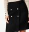 M/&S Ladies Skirt Black Boucle Wool Mix Mini BNWT Marks PerUna £55