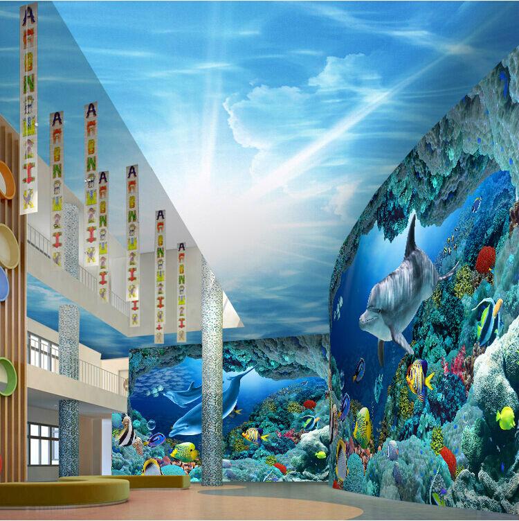 3D Das Leben im Ozean 2677 Fototapeten Wandbild Fototapete BildTapete Familie DE