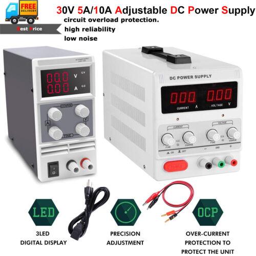 30V 15V 5A//10A DC Power Supply Adjustable Precision Variable Digital Lab Grade