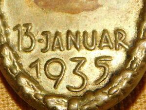 VINTAGE WWII GERMAN  PIN  SAAR ABSTIMMUNG 13 JANUAR 1935
