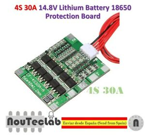 4S 30A Battery PCB Board Balance BMS Charger Short Circuit Protection Durable