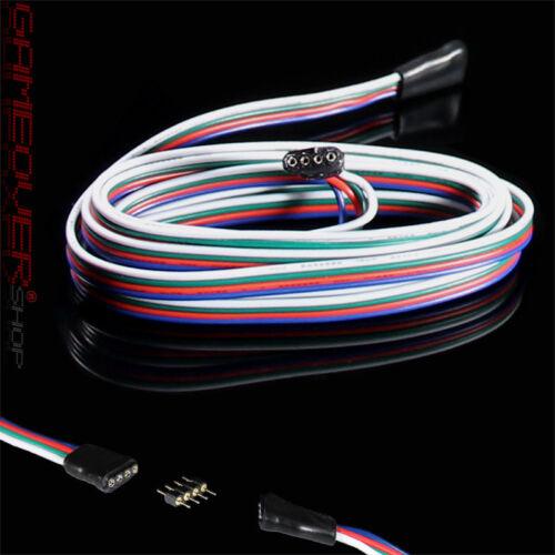 1m Meter LED RGB Verlängerung Kabel Verbindungskabel Stecker Buchse Strip Leiste
