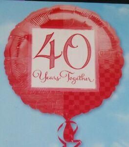 Anniversario Matrimonio 18 Anni.Ruby Anniversario Di Matrimonio 18 Foil Balloon Di 40 Anni