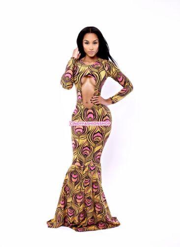 Elegante elegante hueco Vendaje Bodycon bodycon vestido de novia Prom Maxi Vestido Largo