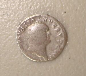 AD 69-79 Vespasian Ancient Roman Silver Denarius F