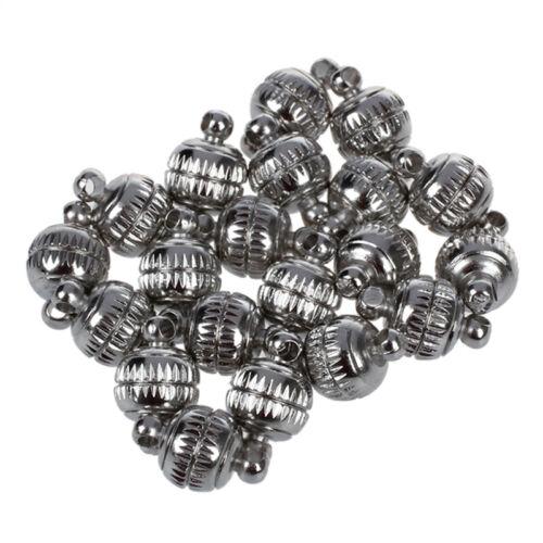 8mm Starke Magnetverschluesse der Beads Perle 20 Sets M4L2