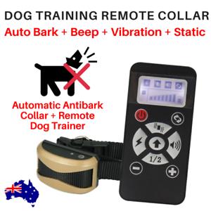 WT180 DOG REMOTE TRAINING COLLAR plus AUTOBARK MODE Small to XL Dog Breeds 730m