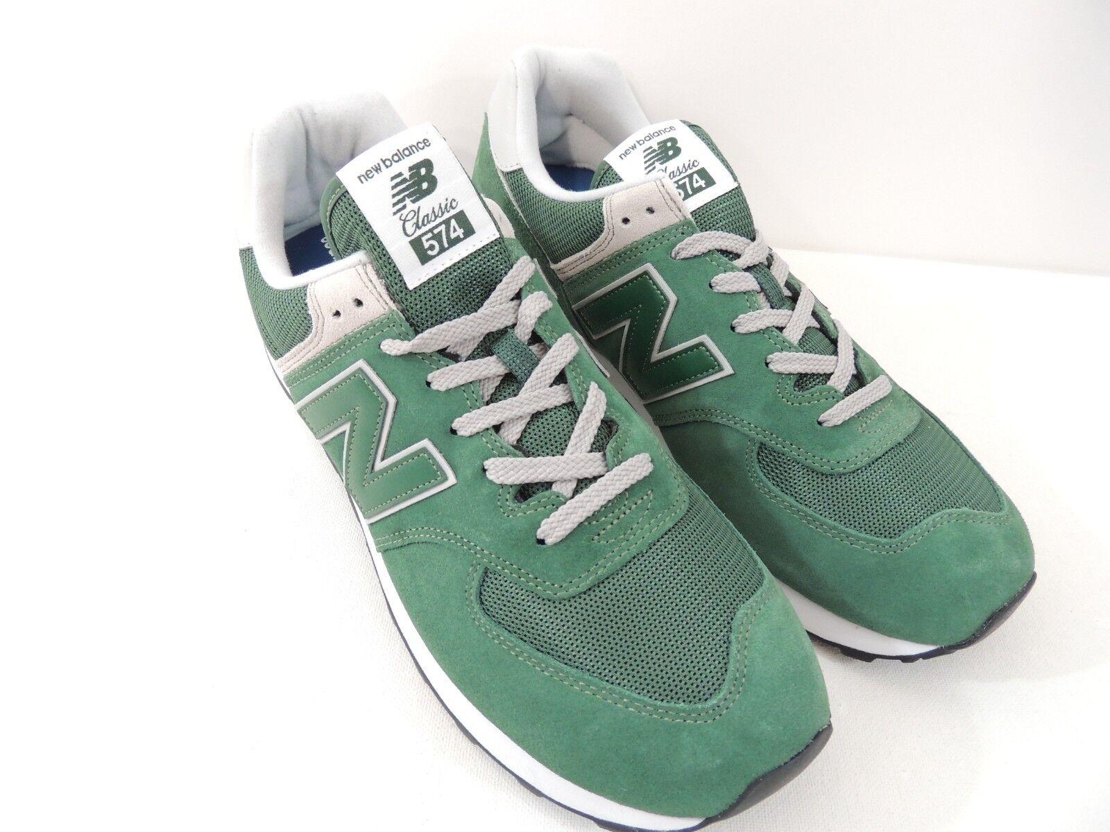 New Balance Mens Classics Forest Green White Grey Black Sneaker ML574EGR Sz 9.5