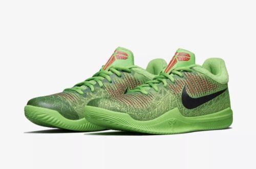 Kobe Nike Mamba Rage Grinch Electric Green Sneakers 908972-300 Mens