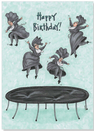 Oatmeal Studios Nun Jumping On Trampolene Funny Birthday Card For Sale Online
