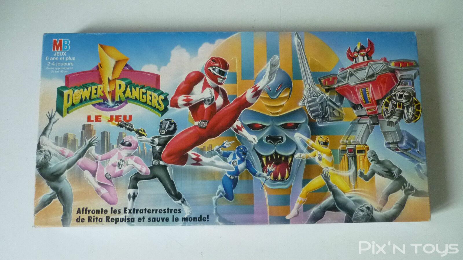 Power Rangers Le Jeu   Jeu  de société MB 1994 Version Française   Complet TBE  à la mode