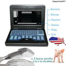 Usa Veterinary Ultrasound Scanner Laptop Machine 75mhz Linear Probe Vet Pig Dog
