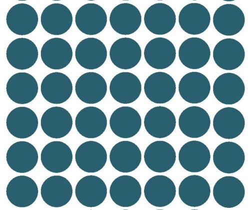 """1-1//2/"""" TEAL Round Color Coded Inventory Labels Dots Sticker MADE IN USA"""