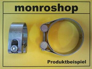 2 x Auspuffschelle Rohr-Bügel Schelle U-Bolt Clamp M10 x 106mm Flachbügelschelle