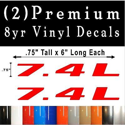 Pair of 5.9L Vinyl DECALS Badge Fender Door Tailgate Emblem Premium Vinyl!