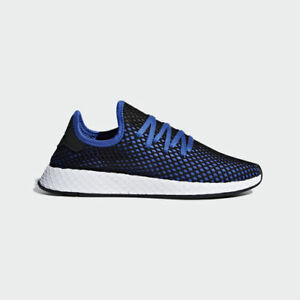 new style 5ac42 ef5fe Image is loading Adidas-Originals-Deerupt-Runner-Blue-Black-Mens-Lifestyle-