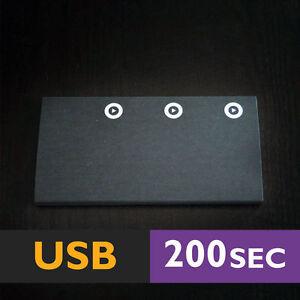 200s-Adhesiva-3-Boton-Dispositivo-USB-Negra-Album-de-Recortes-Tarjetas-de-musica-Modulo-de-voz