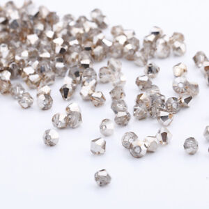 1000pcs 3//4mm Austria Glass Crystal Bicone Loose beads #5301 DIY Jewelry making