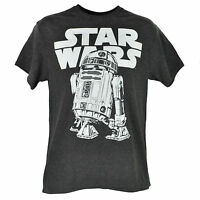 Disney Star Wars Classic R2d2 T-shirt Tee Heather Gray Crew Neck Mens Adult