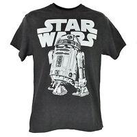 Disney Star Wars Classic R2d2 T-shirt Tee Heather Gray Crew Neck Mens Adult