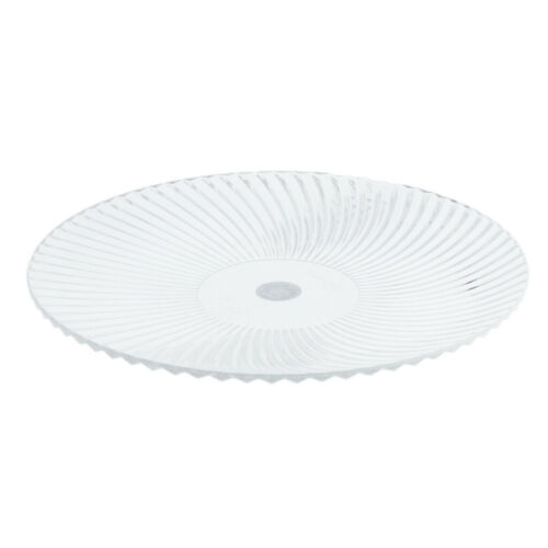 Round Clear Dish Plate Food Serving Plastic Fruit Platters 15cm