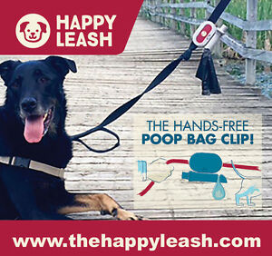 Happy-Leash-Hands-Free-Poop-Bag-Clip-and-Carrier-leash-attachment
