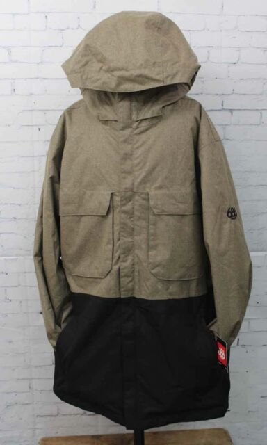New 2018 686 Mens Moniker Insulated Snowboard Jacket Large Khaki