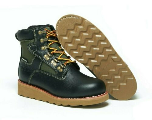 """ASOLO Junior/'s Welt Mid 6/"""" Boot AS-710B Black//Green"""