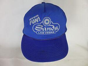 ee038a5b34845 Vintage We re More Fun! Sands Las Vegas Trucker s Cap Hat Mesh ...