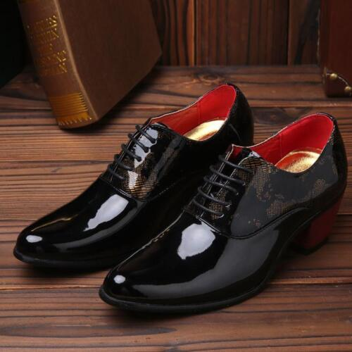 Stylish Men Business Floral Printed Slip On Pointed Toe Formal Dress Shoes Hot
