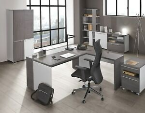 Image Is Loading Executive Grey Office Furniture Study Home Shelves Modern