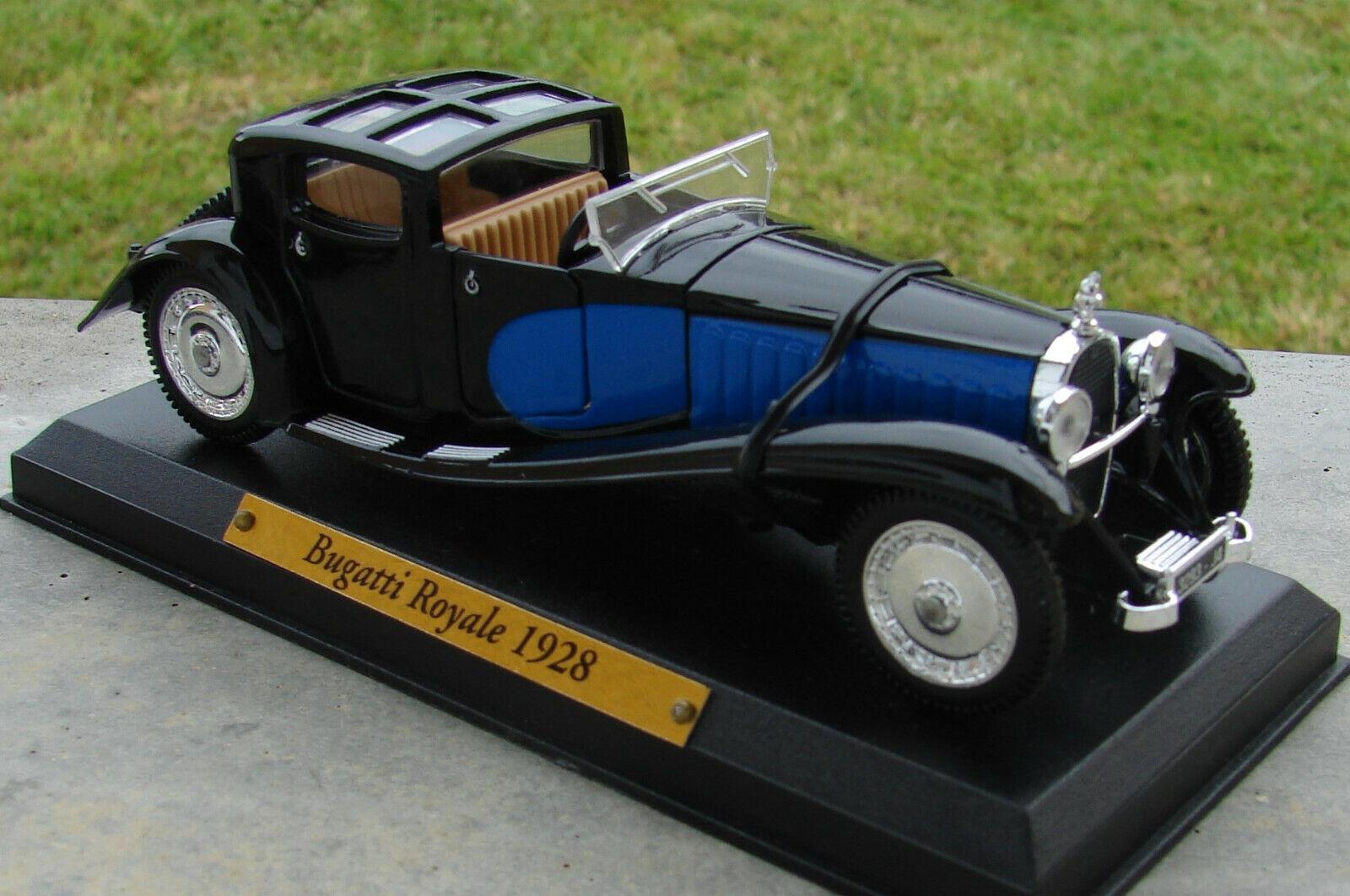Bugatti ROYALE série VOITURES D'EXCEPTION  avec  boite  échelle   1 43