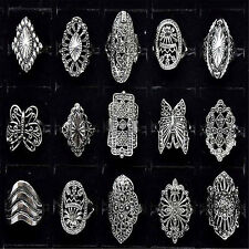 CH 30pcs Wholesale Bulk Jewelry Lots Mixed Style Tibet Silver Vintage Rings Free