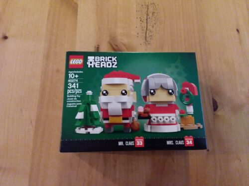 Clause 40274 Christmas Brick Headz FREE SHIPPING! LEGO Mr Clause and Mrs