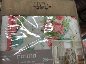 Image Is Loading New Levtex Baby Emma 5 Piece Crib Bedding