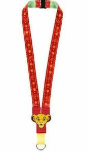 Disney Parks Lion King Young Simba Nala Red Green Pin Lanyard NEW