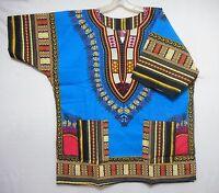 Dashiki Mens Shirt African Top Hippie Vintage Womens Blouse Boho Tribal One Size