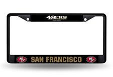 San Francisco 49ers Metal BLACK License Plate Frame Auto Truck Car NFL