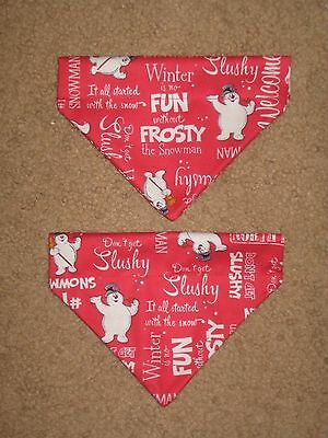 Christmas Frosty the Snowman Dog Bandana - 5 sizes XS - XL