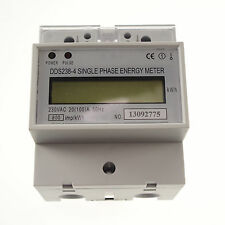 20 to 100A 230V 50hz Single Phase DIN-rail Type Kilowatt Hour Kwh Meter