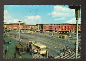 MUNSTER-Hauptbahnhof-ALLEMAGNE-AUTOBUS-N-213-a-la-GARE-animee-en-1966
