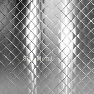Chrome Quilted Diamond Stainless Steel Sheet 4 X 10 Ebay