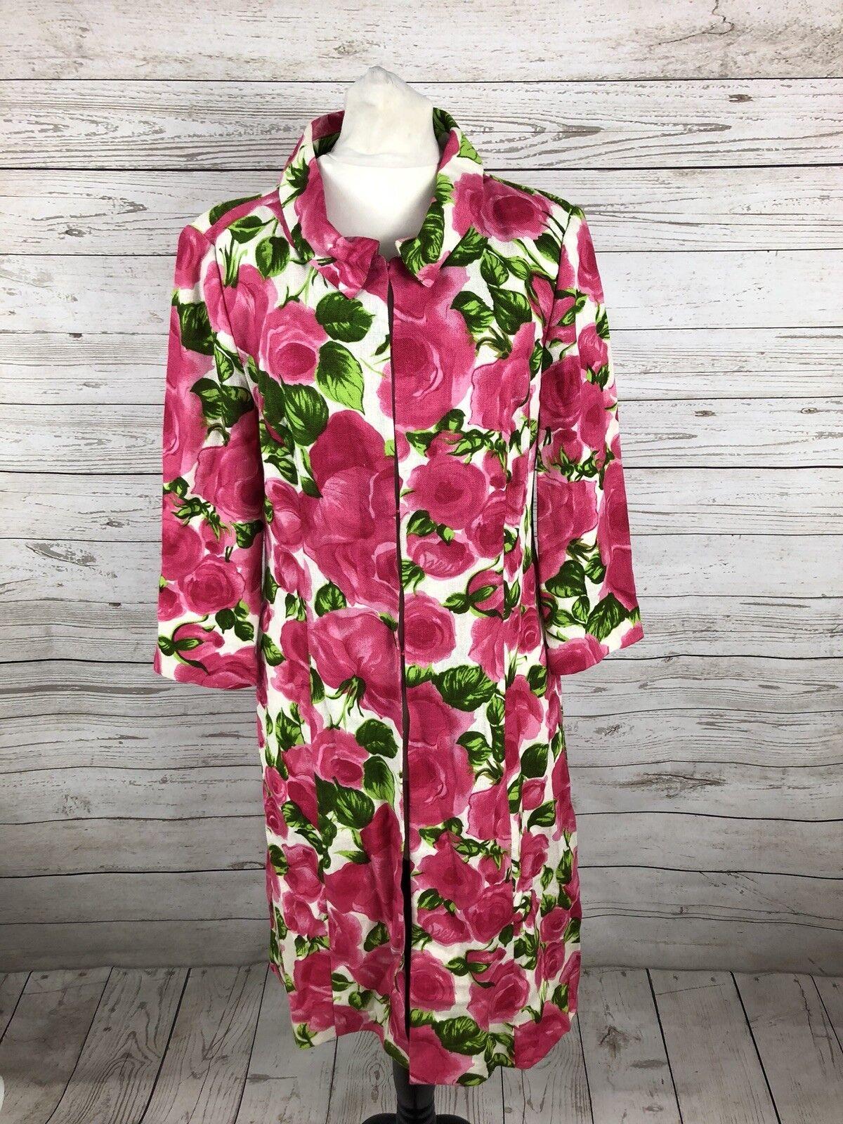 PHASE EIGHT Long Floral Linen Coat - - - Small - Great Condition - damen's   Neuer Stil    Hochwertig    Shop Düsseldorf  628f17