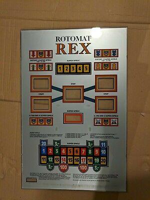 100% QualitäT Ersatzteil Spielautomat Wulff Rotomat Rex: Große Glasscheibe Den Speichel Auffrischen Und Bereichern